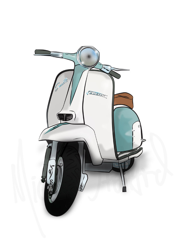 Mod Scooter Fine Art Prints